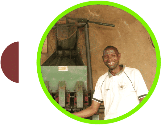 Campesino de café en Burundi Kayanza Nemba